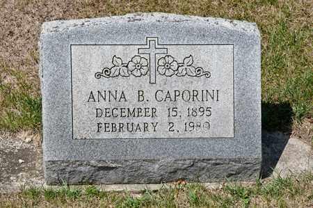 CAPORINI, ANNA B - Richland County, Ohio   ANNA B CAPORINI - Ohio Gravestone Photos