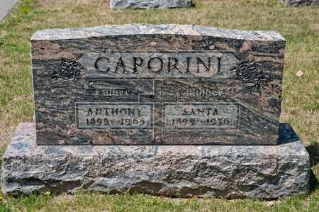 CAPORINI, SANTA - Richland County, Ohio | SANTA CAPORINI - Ohio Gravestone Photos