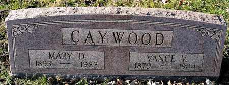 CAYWOOD, VANCE V - Richland County, Ohio | VANCE V CAYWOOD - Ohio Gravestone Photos