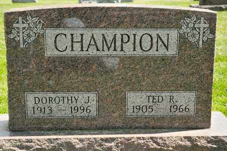 CHAMPION, TED R - Richland County, Ohio | TED R CHAMPION - Ohio Gravestone Photos
