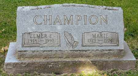 CHAMPION, ELMER E - Richland County, Ohio | ELMER E CHAMPION - Ohio Gravestone Photos