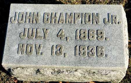 CHAMPION, JOHN - Richland County, Ohio | JOHN CHAMPION - Ohio Gravestone Photos