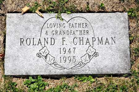 CHAPMAN, ROLAND F - Richland County, Ohio   ROLAND F CHAPMAN - Ohio Gravestone Photos