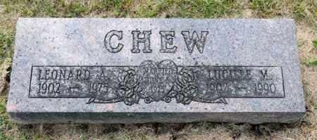 CHEW, LEONARD A - Richland County, Ohio   LEONARD A CHEW - Ohio Gravestone Photos