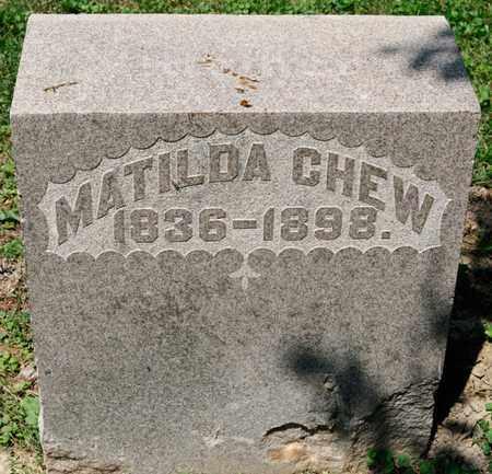 CHEW, MATILDA - Richland County, Ohio   MATILDA CHEW - Ohio Gravestone Photos