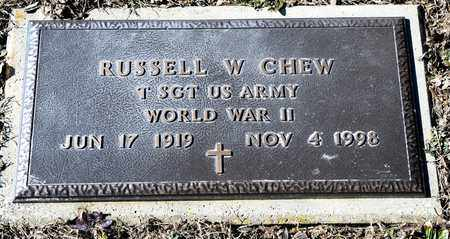 CHEW, RUSSELL W - Richland County, Ohio | RUSSELL W CHEW - Ohio Gravestone Photos