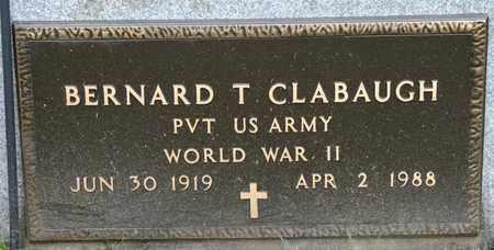 CLABAUGH, BERNARD T - Richland County, Ohio | BERNARD T CLABAUGH - Ohio Gravestone Photos