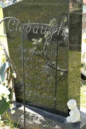 CLABAUGH, HERBERT W - Richland County, Ohio | HERBERT W CLABAUGH - Ohio Gravestone Photos