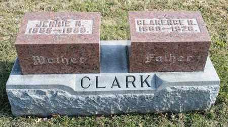 CLARK, JENNIE N - Richland County, Ohio | JENNIE N CLARK - Ohio Gravestone Photos