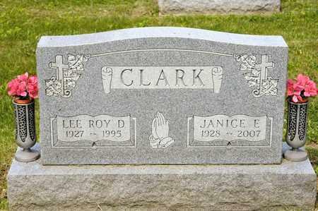 CLARK, JANICE E - Richland County, Ohio | JANICE E CLARK - Ohio Gravestone Photos