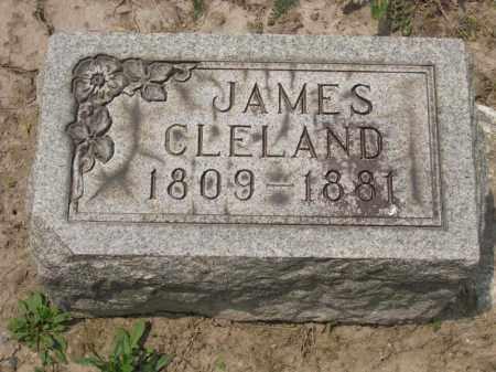 CLELAND, JAMES - Richland County, Ohio | JAMES CLELAND - Ohio Gravestone Photos