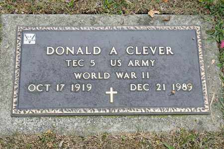 CLEVER, DONALD A - Richland County, Ohio | DONALD A CLEVER - Ohio Gravestone Photos