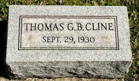 CLINE, THOMAS G B - Richland County, Ohio | THOMAS G B CLINE - Ohio Gravestone Photos
