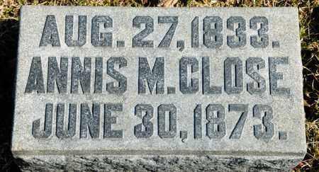 CLOSE, ANNIS M - Richland County, Ohio   ANNIS M CLOSE - Ohio Gravestone Photos