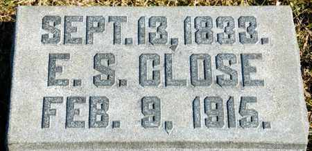CLOSE, E S - Richland County, Ohio   E S CLOSE - Ohio Gravestone Photos