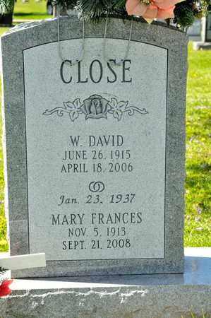 CLOSE, W DAVID - Richland County, Ohio | W DAVID CLOSE - Ohio Gravestone Photos