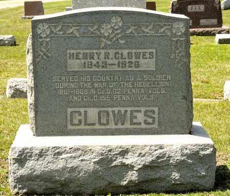 CLOWES, HENRY R - Richland County, Ohio | HENRY R CLOWES - Ohio Gravestone Photos