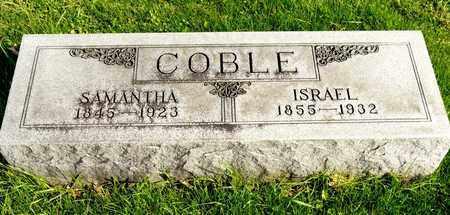 COBLE, ISRAEL - Richland County, Ohio   ISRAEL COBLE - Ohio Gravestone Photos