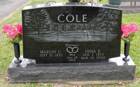 COLE, EDNA E - Richland County, Ohio   EDNA E COLE - Ohio Gravestone Photos
