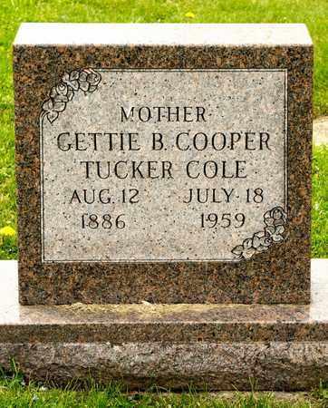 COLE, GETTIE B - Richland County, Ohio | GETTIE B COLE - Ohio Gravestone Photos