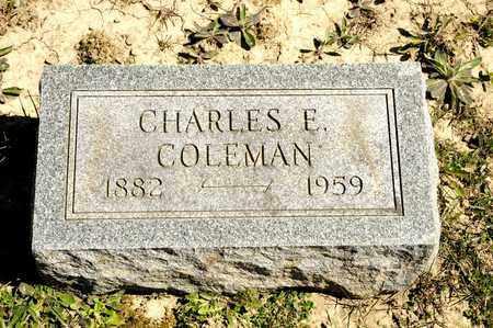 COLEMAN, CHARLES E - Richland County, Ohio   CHARLES E COLEMAN - Ohio Gravestone Photos