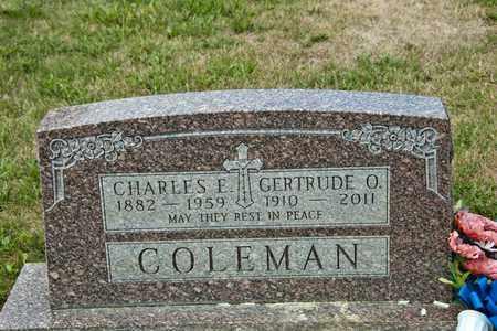 COLEMAN, GERTRUDE O - Richland County, Ohio   GERTRUDE O COLEMAN - Ohio Gravestone Photos