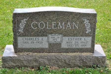 COLEMAN, ESTHER L - Richland County, Ohio | ESTHER L COLEMAN - Ohio Gravestone Photos