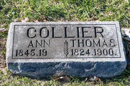 COLLIER, THOMAS - Richland County, Ohio | THOMAS COLLIER - Ohio Gravestone Photos
