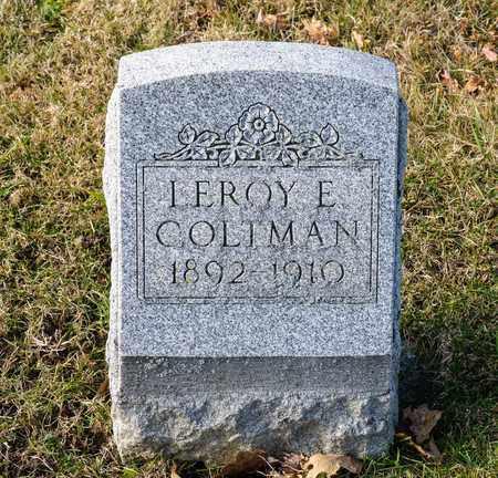 COLTMAN, LEROY E - Richland County, Ohio | LEROY E COLTMAN - Ohio Gravestone Photos