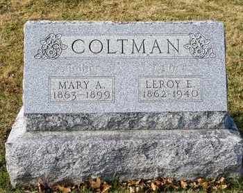 COLTMAN, LEROY E - Richland County, Ohio | LEROY E COLTMAN - Ohio Gravestone Photos