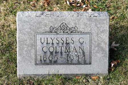COLTMAN, ULYSSES G - Richland County, Ohio   ULYSSES G COLTMAN - Ohio Gravestone Photos