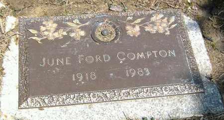 FORD COMPTON, JUNE A. - Richland County, Ohio   JUNE A. FORD COMPTON - Ohio Gravestone Photos