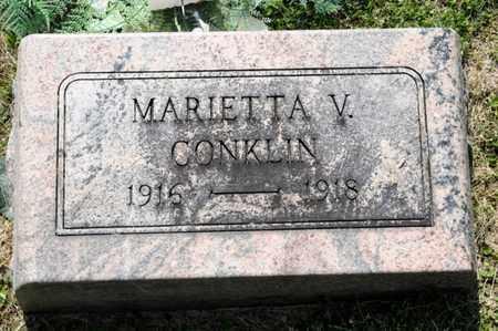 CONKLIN, MARIETTA V - Richland County, Ohio | MARIETTA V CONKLIN - Ohio Gravestone Photos