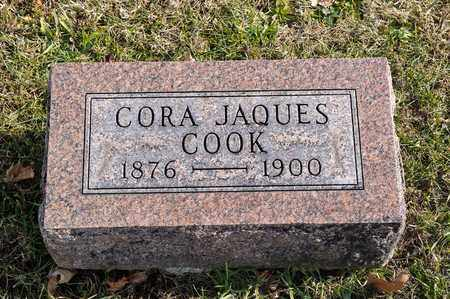 COOK, CORA JAQUES - Richland County, Ohio   CORA JAQUES COOK - Ohio Gravestone Photos