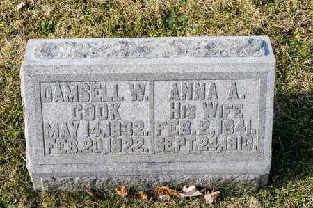 COOK, DAMSELL W - Richland County, Ohio | DAMSELL W COOK - Ohio Gravestone Photos