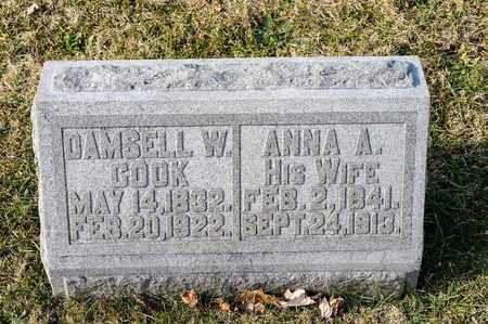 COOK, ANNA A - Richland County, Ohio | ANNA A COOK - Ohio Gravestone Photos