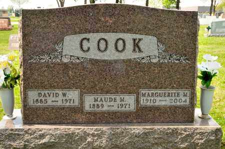 COOK, DAVID W - Richland County, Ohio | DAVID W COOK - Ohio Gravestone Photos