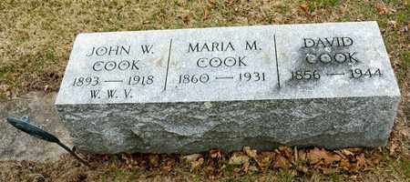COOK, MARIA M - Richland County, Ohio | MARIA M COOK - Ohio Gravestone Photos