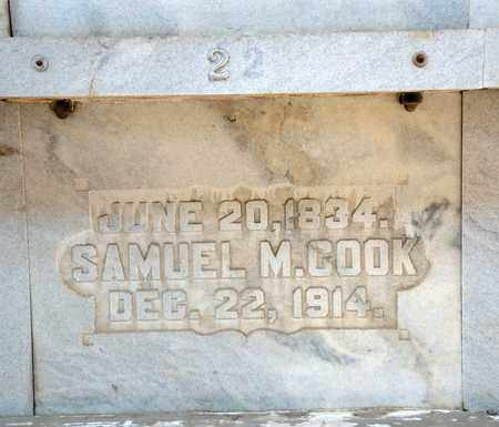 COOK, SAMUEL M - Richland County, Ohio | SAMUEL M COOK - Ohio Gravestone Photos