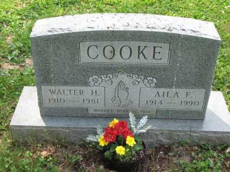 COOKE, WALTER H. - Richland County, Ohio   WALTER H. COOKE - Ohio Gravestone Photos