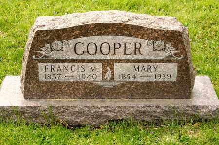COOPER, FRANCIS M - Richland County, Ohio | FRANCIS M COOPER - Ohio Gravestone Photos