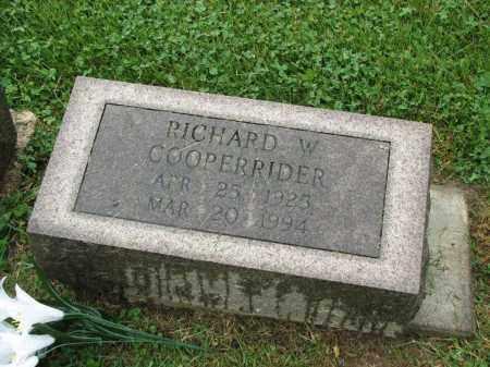 COOPERRIDER, RICHARD W. - Richland County, Ohio | RICHARD W. COOPERRIDER - Ohio Gravestone Photos