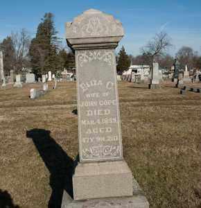 COPE, ELIZA C - Richland County, Ohio | ELIZA C COPE - Ohio Gravestone Photos