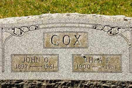 COX, JOHN O - Richland County, Ohio | JOHN O COX - Ohio Gravestone Photos