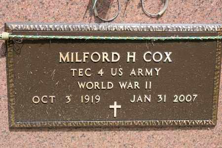 COX, MILFORD H - Richland County, Ohio   MILFORD H COX - Ohio Gravestone Photos