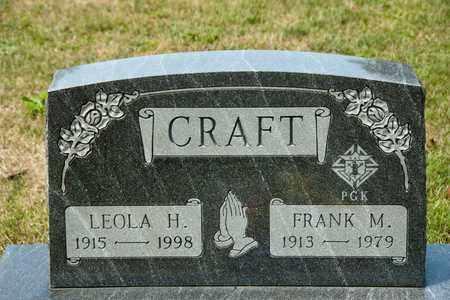 CRAFT, LEOLA H - Richland County, Ohio | LEOLA H CRAFT - Ohio Gravestone Photos