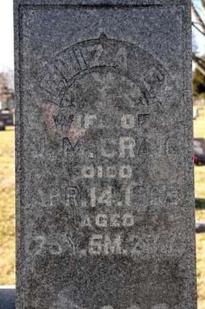 CRAIG, ELIZA E - Richland County, Ohio   ELIZA E CRAIG - Ohio Gravestone Photos