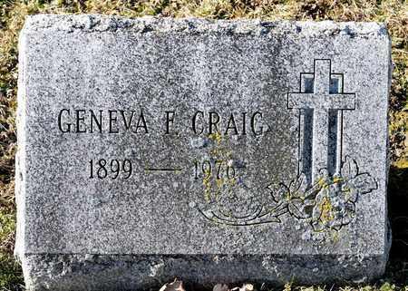 CRAIG, GENEVA F - Richland County, Ohio | GENEVA F CRAIG - Ohio Gravestone Photos