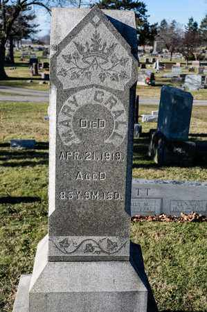 CRALL, MARY - Richland County, Ohio | MARY CRALL - Ohio Gravestone Photos