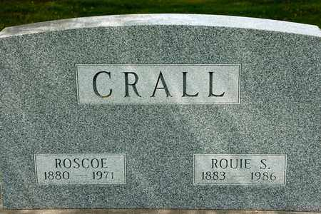 CRALL, ROSCOE - Richland County, Ohio | ROSCOE CRALL - Ohio Gravestone Photos